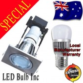 LED Downlight Kit - Square Cover with AKESI 6W LED Light Globe Included