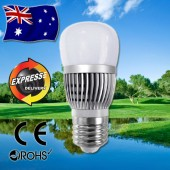 AKESI 6W LED Light Bulbs Frost Glass Globe E27