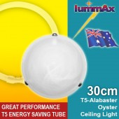 LUMMAX Alabaster Oyster Ceiling Light - T5 Energy Saving Tube Incl (30cm)