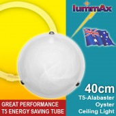 LUMMAX Alabaster Oyster Ceiling Light - T5 Energy Saving Tube Included (40cm)