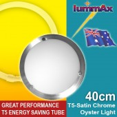 LUMMAX Solo Satin Chrome Oyster Ceiling Light T5 Energy Saving Tube Incl (40cm)