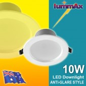 20 LUMMAX 10W Dimmable LED Downlight Kit 90-100mm cut out Snowy White (Anti-glare Style)