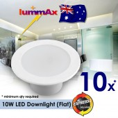 10 x LUMMAX Dimmable 10W LED Downlight Kit 90-100mm cut out Flat Style