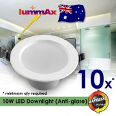 10 x LUMMAX Dimmable 10W LED Downlight Kit 90-100mm cut out Anti-glare Style