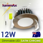LUMMAX 12W Dimmable LED Downlight Kit - Satin Chrome