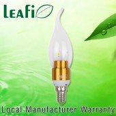 LEAFI 3W E14 LED Globes Energy Saving Flame Candle Light Bulbs - Golden Base
