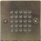 LUMMAX Square Grid Recessed Wall LED Light - 105 x 105 x 86mm