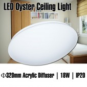 LUMMAX 18W LED Oyster Ceiling Light 320mm (Sealed Cover)