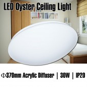 LUMMAX 30W LED Oyster Ceiling Light 370mm with IP20 (Sealed Cover)