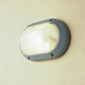 Outdoor Oval Aluminum Die-casting Bulkhead Light